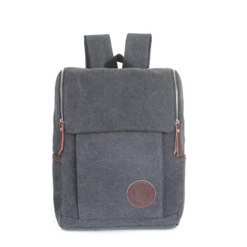 Men's Backpacks Canvas Crossbody Chest Softback Men'S Bags - SLATE GRAY