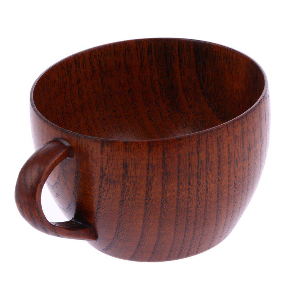 Tea Natural Jujube Wooden with Handgrip Wine Beer Milk Coffee Cup - RED DIRT