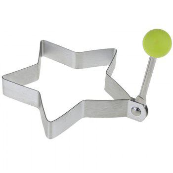 Stainless Steel Fry Eggs Star Type Pancakes for Breakfast in The Kitchen - WHITE