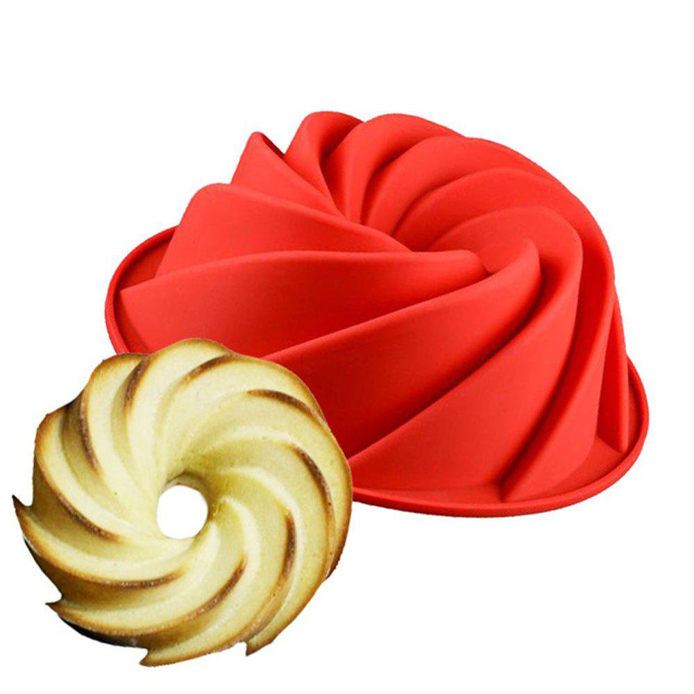 Big Size Swirl Shape Silicone Cake Mold for Baking Accessories
