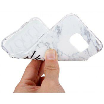 Vogue Characters Fashion Marble Soft TPU Phone Case for Samsung Galaxy S6 - WHITE