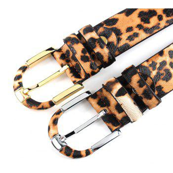 ZHAXIN Pantherine Real Leather Pin Clasp Man Belt - LEOPARD 120CM
