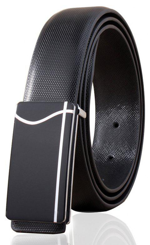 ZHAXIN 866 Metal Line Printing Smooth Clasp Men Belt - BLACK 105CM