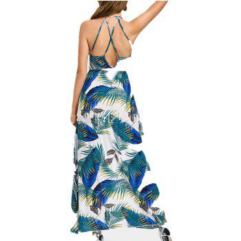 2018 Dress And Put Down Fashion Dress - GLACIAL BLUE ICE L