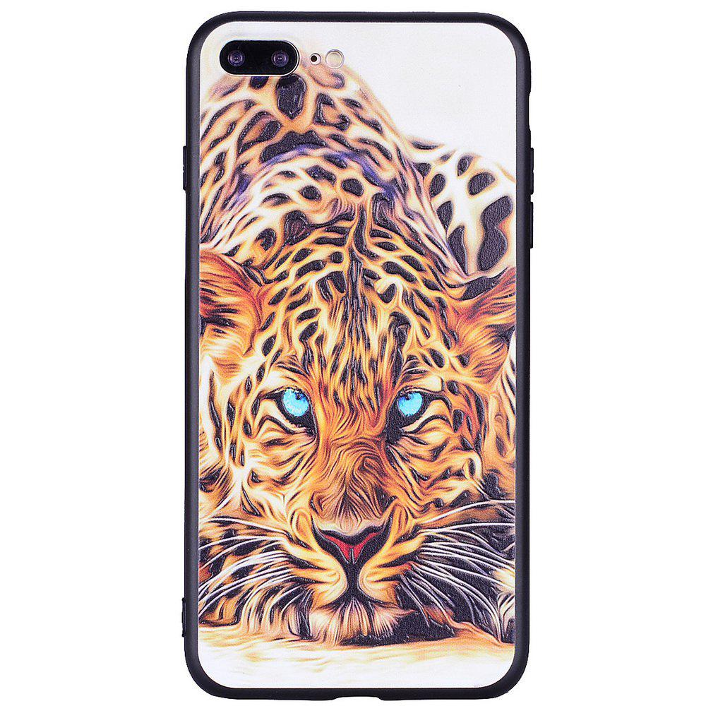 For iPhone 7 Plus / 8 Plus Tiger Personality Cell Phone Protection Shell fshang metal kickstand clear tpu cell phone shell for iphone 7 plus gold