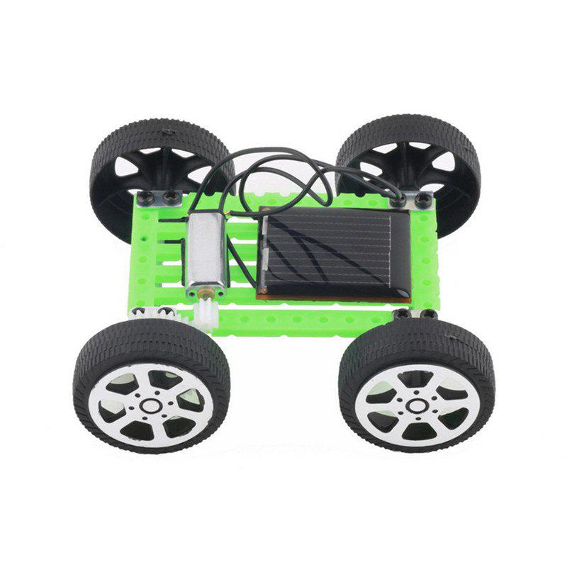 DIY Solar Powered Car Simple Model Science Toy Children Educational Gadget - GREEN