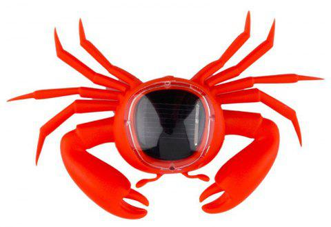 Kid Solar Energy Powered Mini Kit Novelty Power Crab Educational Gadget Toy - RED