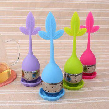 Stainless Steel Silicone Tea Filter - ROSE RED