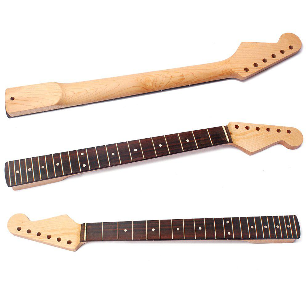22 Frets Maple Guitar Neck Rosewood Fingerboard for ST Replacement - WOODEN BLACK