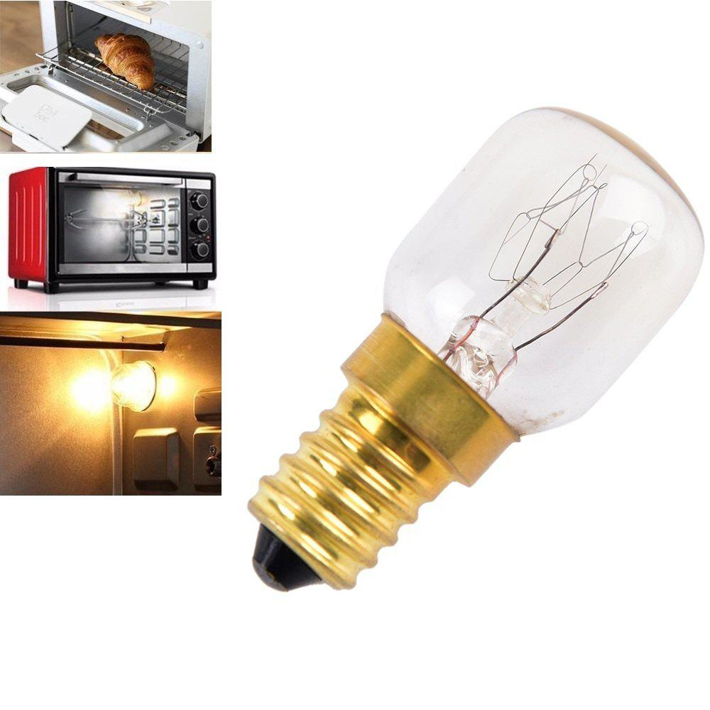 Oven Light Bulb E14 15W High Temperature 300 Degree Yellow Toaster Tungsten Filament Bulb - YELLOW AC110-120V