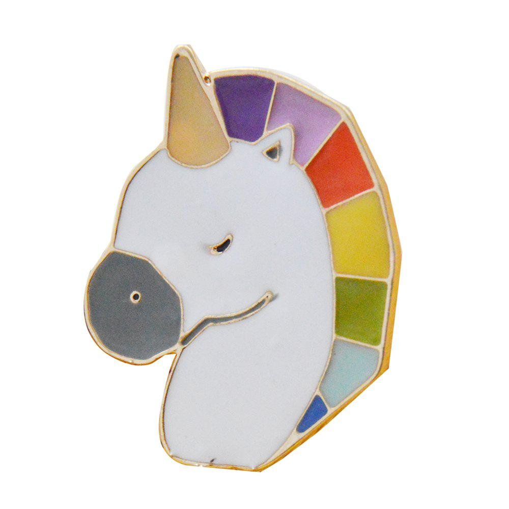 Little Horse Unicorn Brooch Button Pins Denim Jacket Pin Badge Cartoon Jewelry Gift for Kids - GOLD