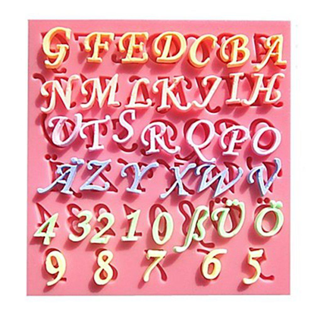 Letters Digitals Sillicone Fondant Mold for Cake Sugar Craft Chocolate Cookie стоимость