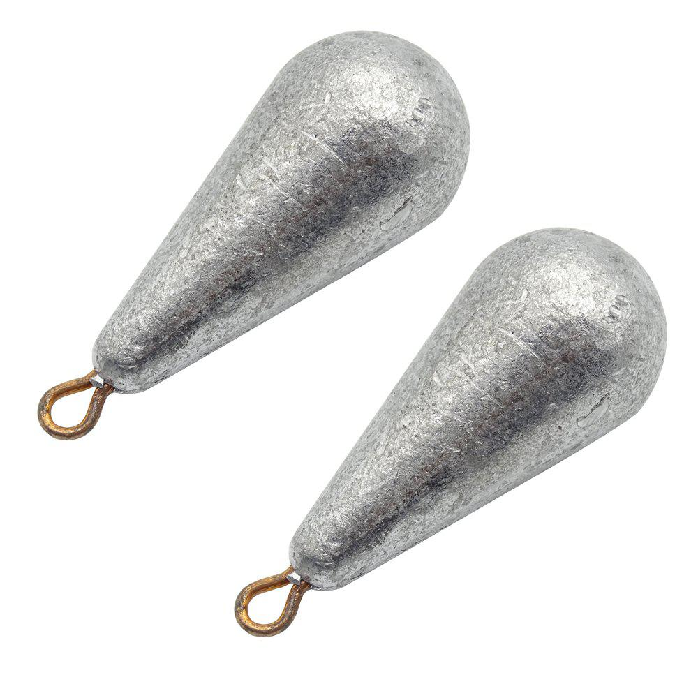 Water Droplet Shape Solid Fishing Special Regulus Lead 2pcs - PLATINUM 150G