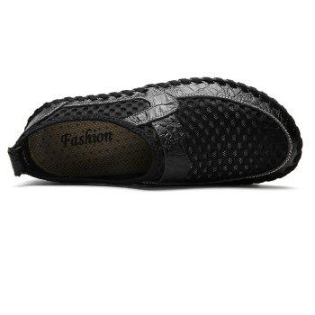 Men Casual Hiking Mesh Breathable Outdoor Sandals Shoes - BLACK 41