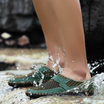 Men Casual Hiking Mesh Breathable Outdoor Sandals Shoes - SEA GREEN 41