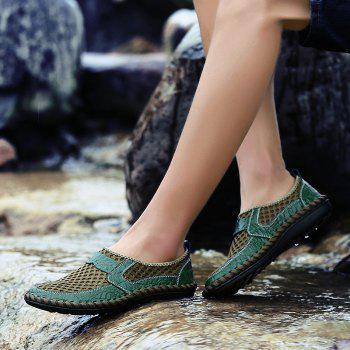 Men Casual Hiking Mesh Breathable Outdoor Sandals Shoes - SEA GREEN 46