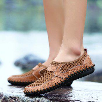 Men Casual Hiking Mesh Breathable Outdoor Sandals Shoes - BROWN SUGAR 41