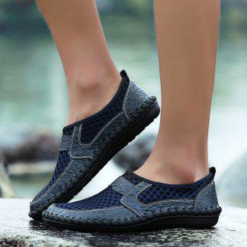Men Casual Hiking Mesh Breathable Outdoor Sandals Shoes - SAPPHIRE BLUE 41