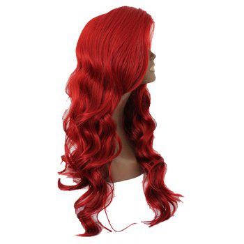 Red Long Curly Hair Chemical Fiber Front Lace Wig - GRAPEFRUIT 26INCH