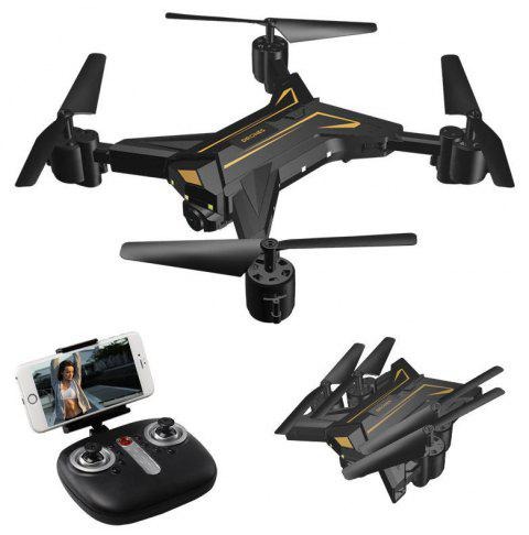 K520 Foldable Drone 30W HD Camera Quadcopter WiFi FPV Live Helicopter Hover - BLACK