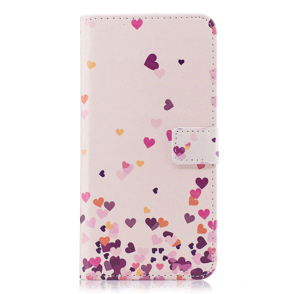 Filp Case for Samsung Galaxy S9 Pink Hearts Pattern Wallet Stand Cover - PINK
