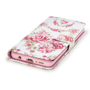 Filp Case for Samsung Galaxy S9 Pink Roses Pattern Wallet Stand Cover - PINK