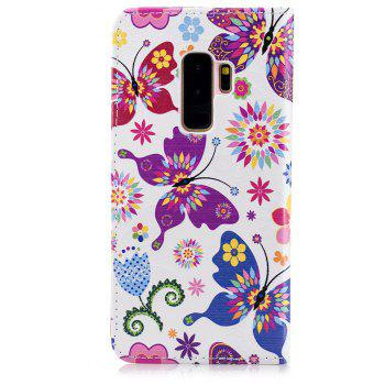Filp Case for Samsung Galaxy S9 Plus Butterfly Pattern Wallet Stand Cover - multicolor