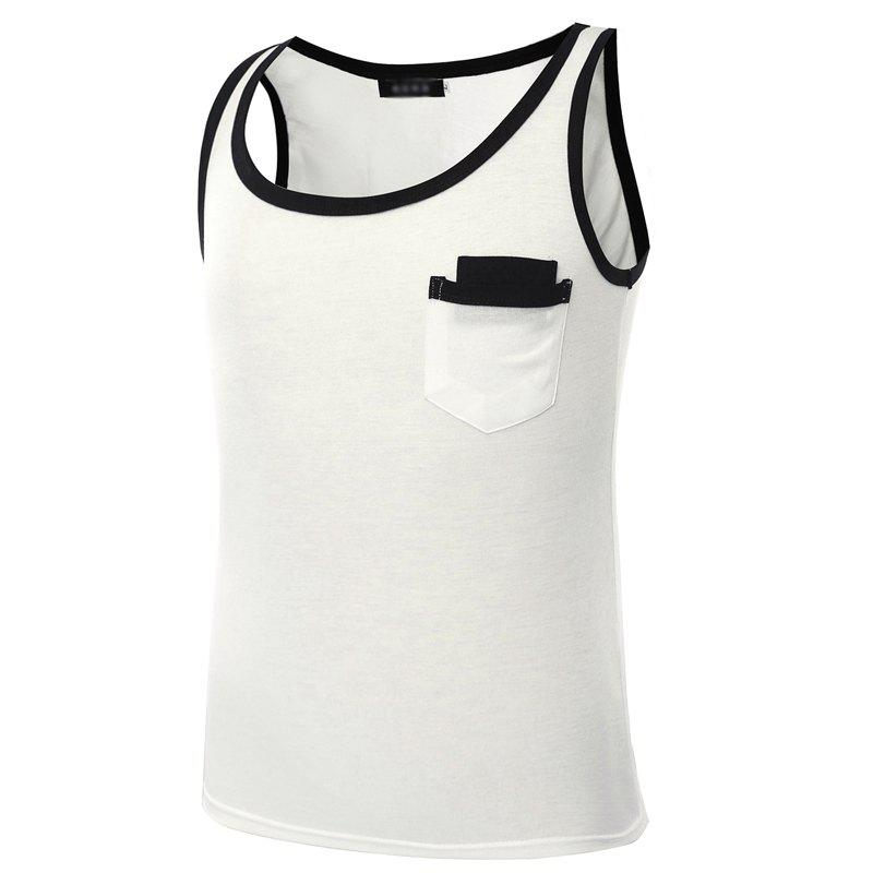 Sleeveless Vest for Men in Fashion - WHITE M
