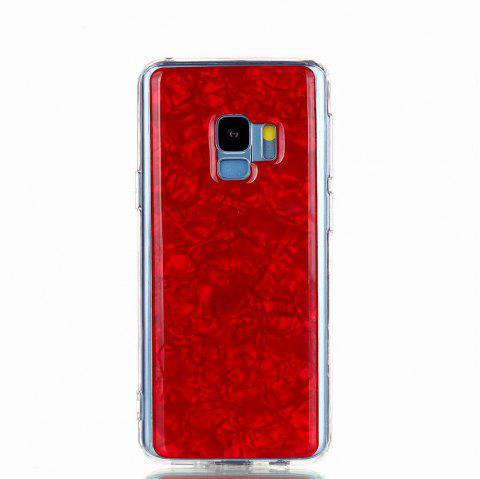 Sequins Epoxy Glitter Phone Shell for Samsung Galaxy S9 Case TPU Soft - RED