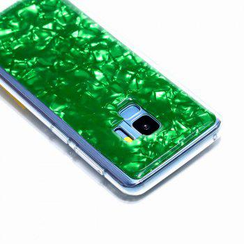 Sequins Epoxy Glitter Phone Shell for Samsung Galaxy S9 Case TPU Soft - GREEN
