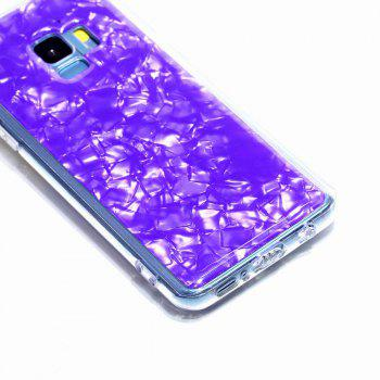 Sequins Epoxy Glitter Phone Shell for Samsung Galaxy S9 Case TPU Soft - VIOLET
