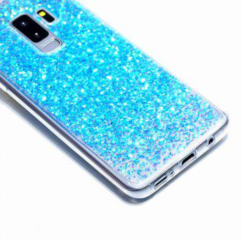 Flash Glitter Cases for Samsung Galaxy S9 Plus Soft Shiny Cover Shell Phone - BLUE