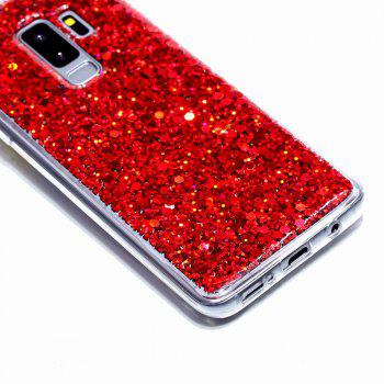 Flash Glitter Cases for Samsung Galaxy S9 Plus Soft Shiny Cover Shell Phone - RED