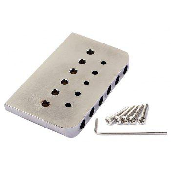 Zinc Alloy 6 String Fixed Hard Tail Hardtail Guitar Bridge for Electric Guitarra - SILVER