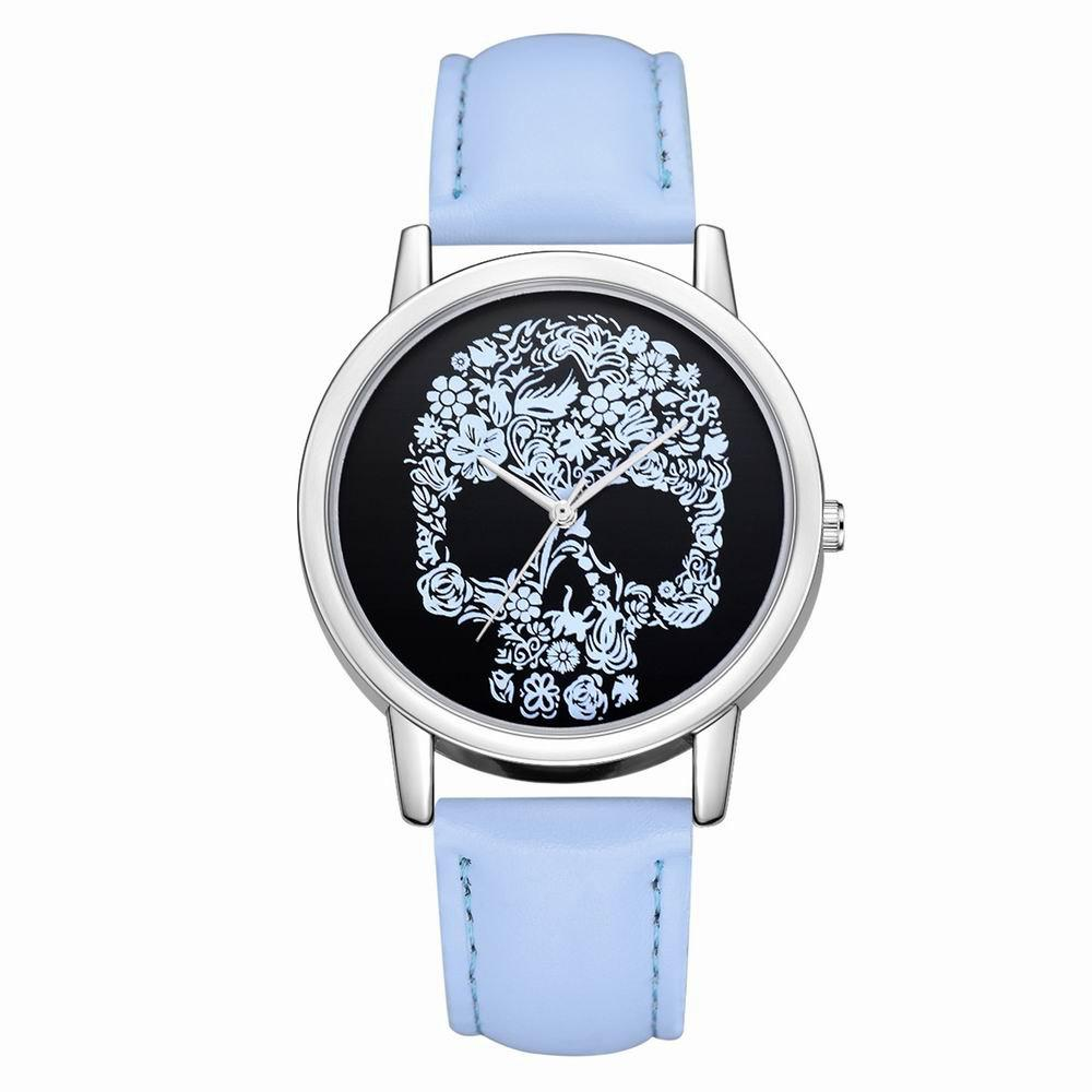 Fanteeda FD110 Women Unique Skull Dial Leather Band Quartz Wrist Watch шампунь ducray анафаз плюс шампунь 400 мл