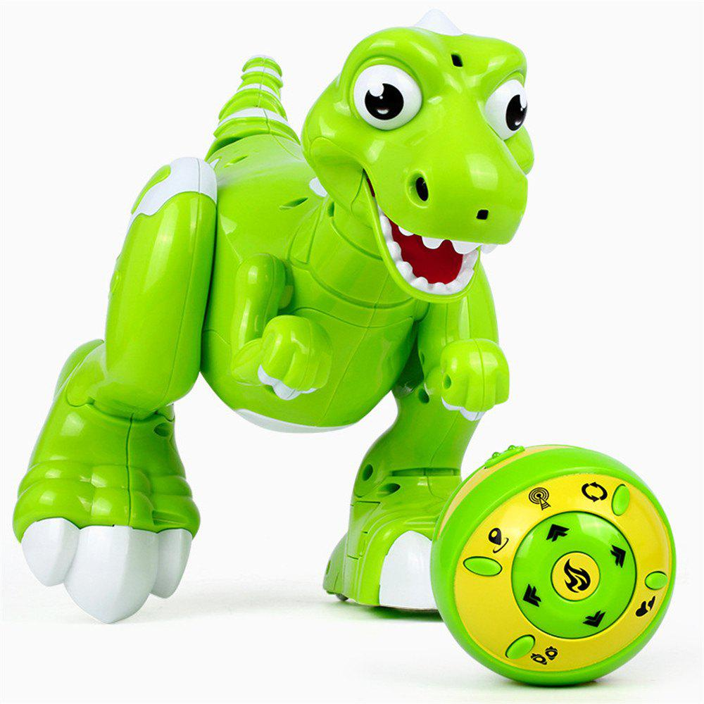 Wireless Remote Control Interactive RC Dinosaur Toy - GREEN