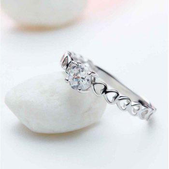 The New Style Is Simple Zircon Silver Ring - SILVER 10