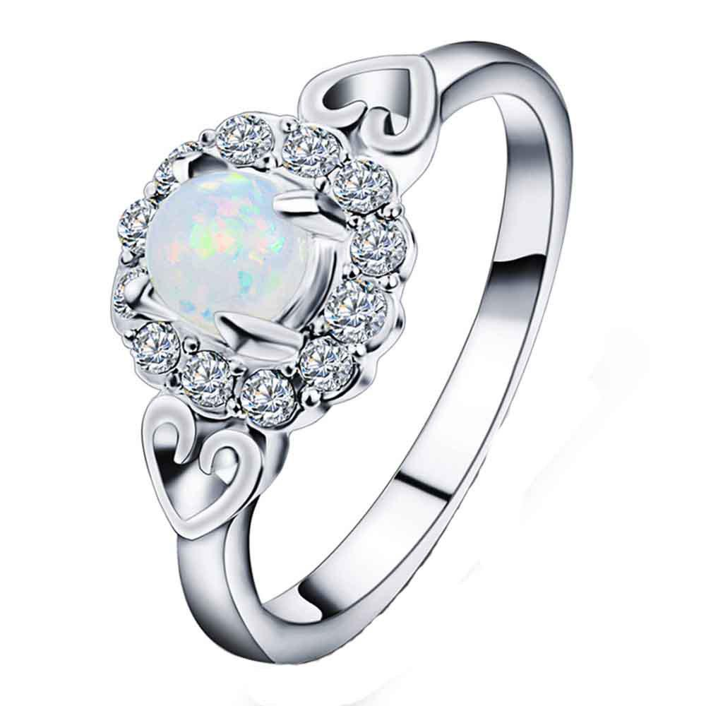 New High-end Fashion Diamond with Diamond Ring - SILVER 6
