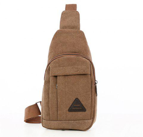 Simple Wild Men Travel Canvas Travel Chest Bag - BROWN