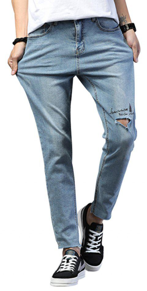 Broken Hole Pocket Design Men's Jeans - BLUE 31