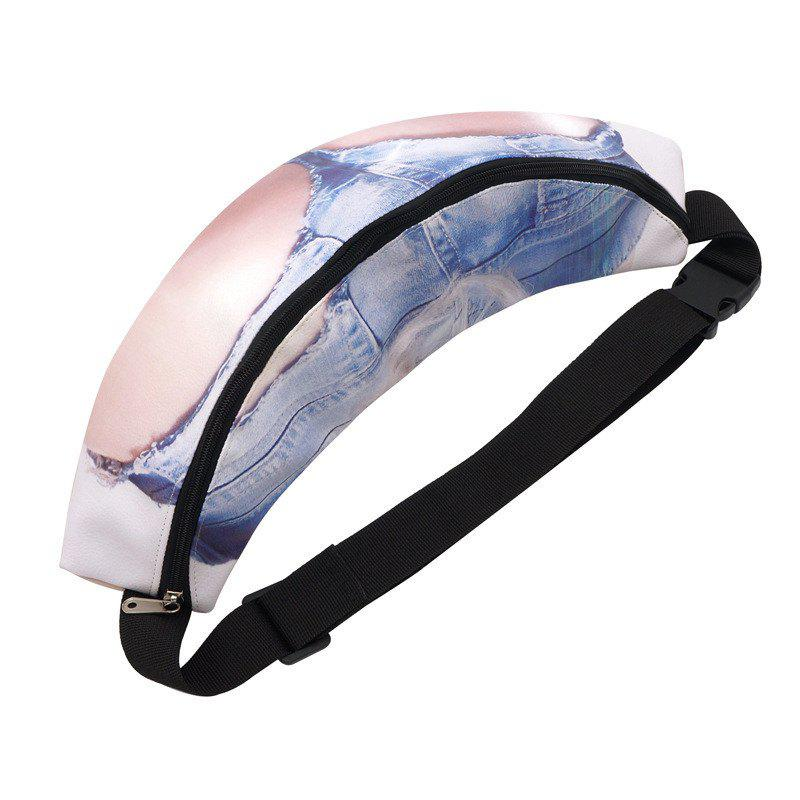 New Fat Belly Funny Pack Belt Pouch Hip Waist Bag - multicolor