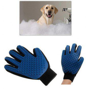 Silicone Pet Brush Gloves Wash Gentle and Efficient Beauty Dog Bath Cat Cleaning - multicolor