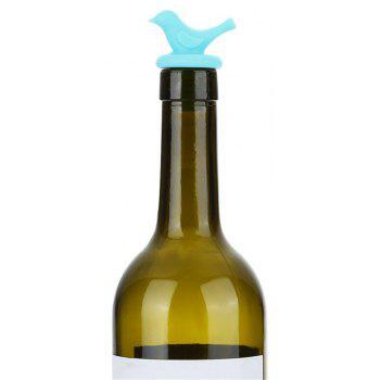 Creative Bird Design Silicone Wine Plug - BLUE ZIRCON