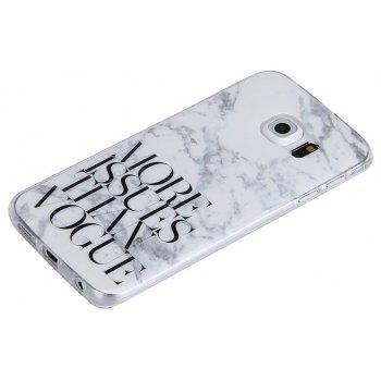 Characters Fashion Marble Soft TPU Phone Case for Samsung Galaxy S6 Edge - WHITE