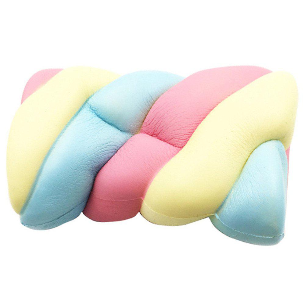 New Jumbo Squishy Big Rainbow Marshmallow Toy - multicolor A