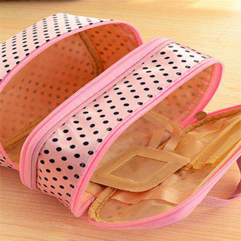 Double Round Cosmetic Bag - PINK