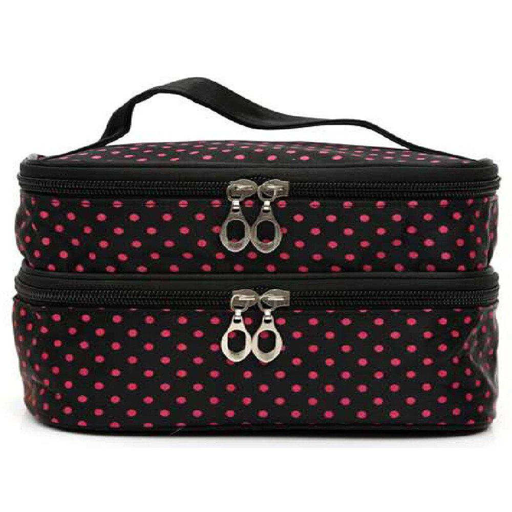 Double Round Cosmetic Bag - BURNT PINK