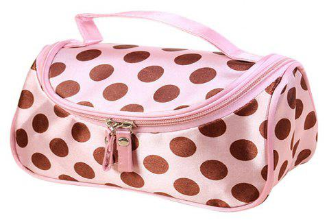 Large Capacity Side Liquor Flower Color Cosmetic Bag - PINK