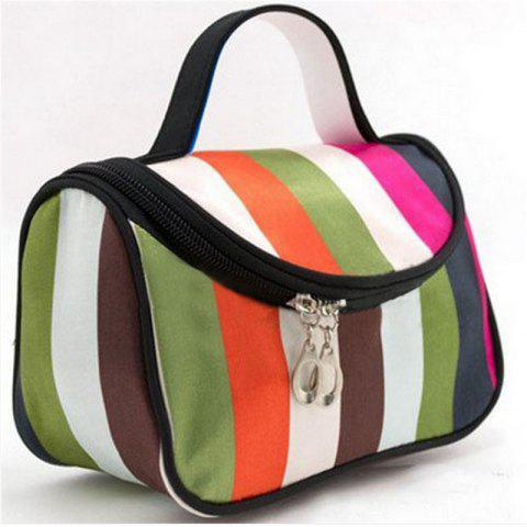 Large Capacity Side Liquor Flower Color Cosmetic Bag - multicolor A