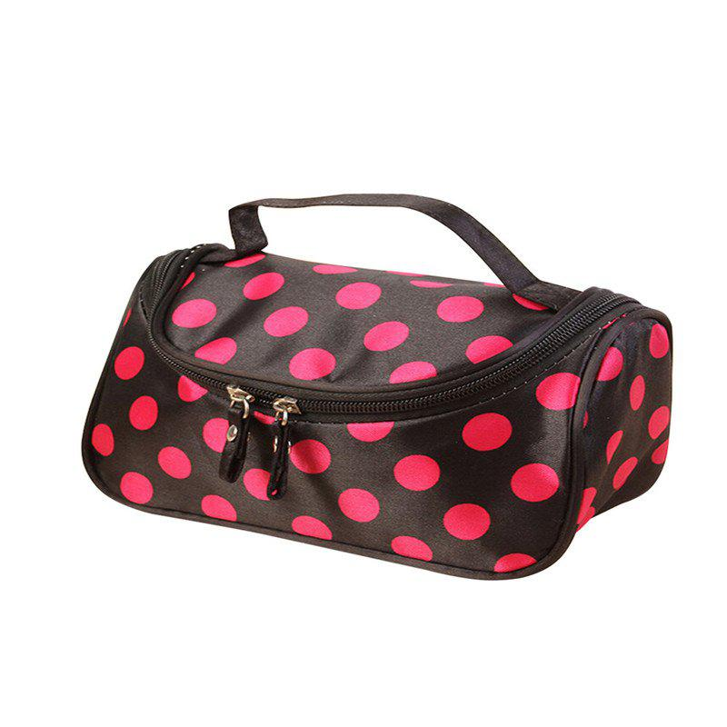 Large Capacity Side Liquor Flower Color Cosmetic Bag - NIGHT